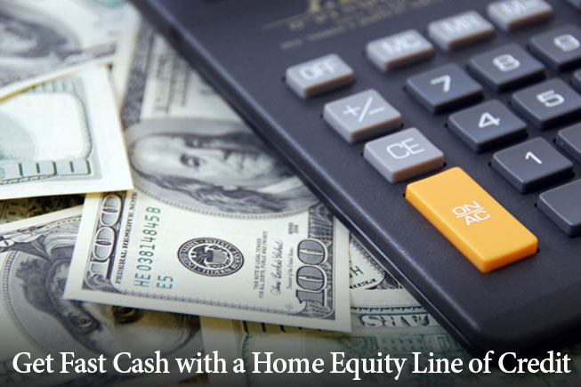 fast cash with home equity line of credit